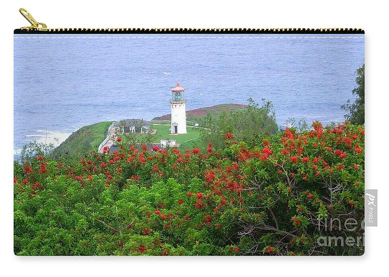 Lighthouses Carry-all Pouch featuring the photograph Kilauea Lighthouse Kauai Hawaii by Mary Deal