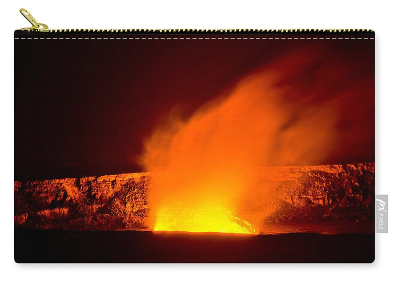 Kilauea Carry-all Pouch featuring the photograph Kilauea Volcano by Don Schwartz