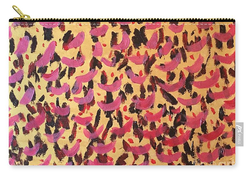 Abstract Carry-all Pouch featuring the painting Queen- Killer Queen by Rebecca Snowball