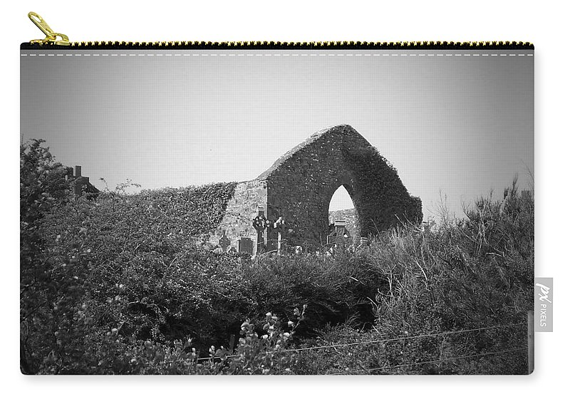 Irish Carry-all Pouch featuring the photograph Kilmanaheen Church Ruins Ennistymon Ireland by Teresa Mucha