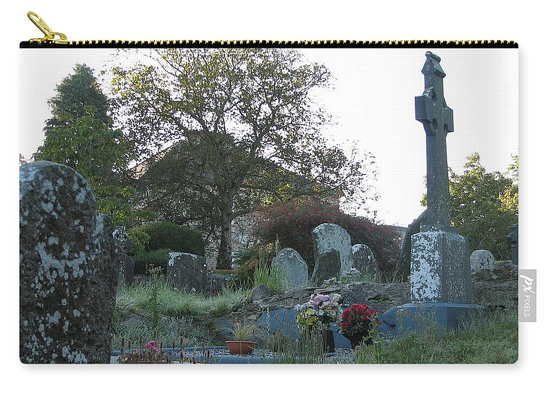 Graveyard Carry-all Pouch featuring the photograph Kilmokea Graveyard by Kelly Mezzapelle