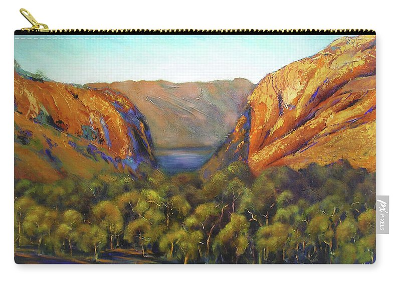 Landscape Carry-all Pouch featuring the painting Kimberley Outback Australia by Chris Hobel