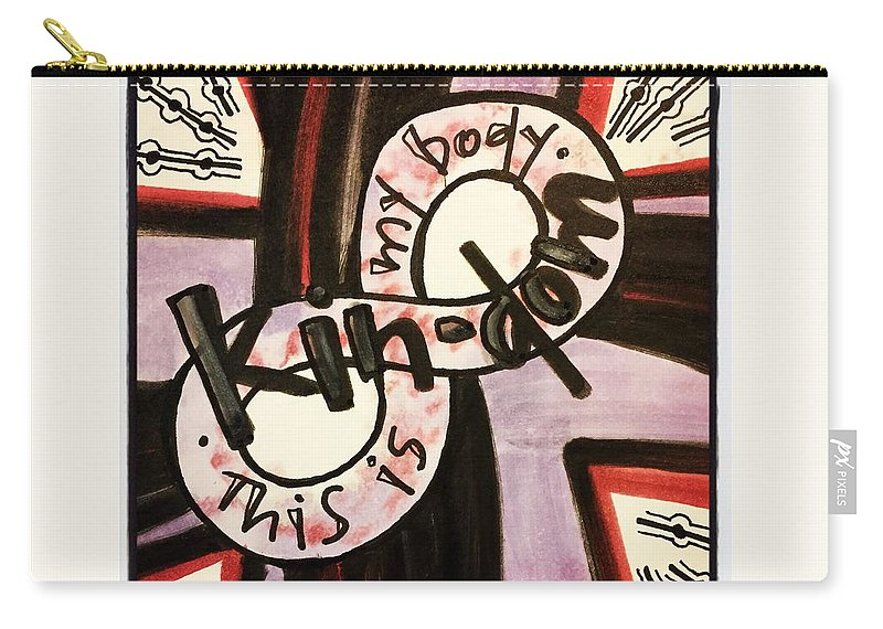 Kindom Carry-all Pouch featuring the painting Kin-dom by Vonda Drees
