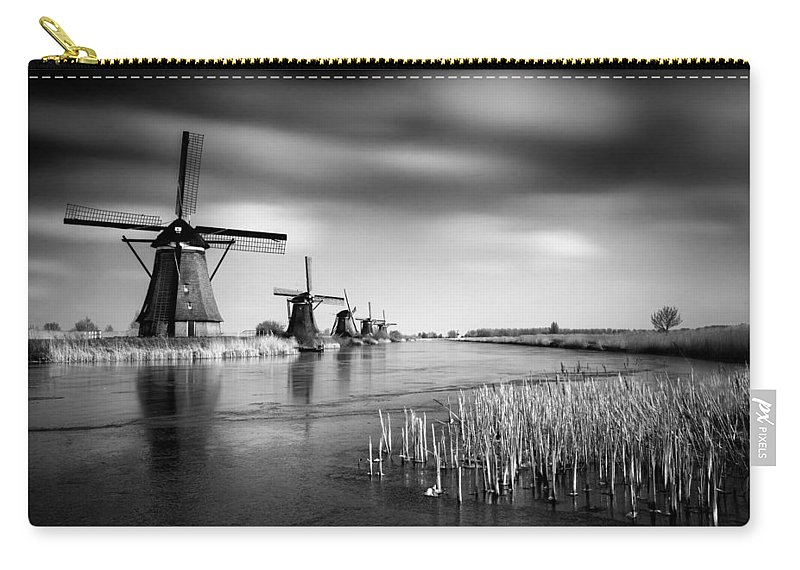 Kinderdijk Carry-all Pouch featuring the photograph Kinderdijk by Dave Bowman