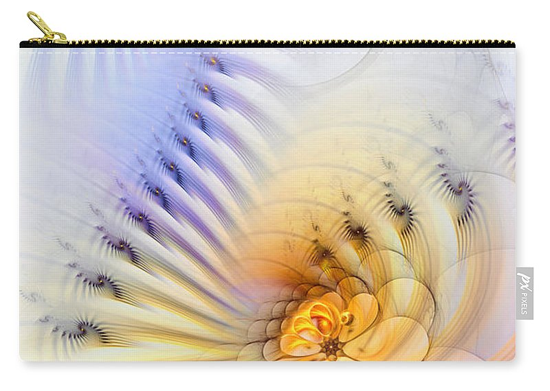 Abstract Carry-all Pouch featuring the digital art Kinetic Pantomime by Casey Kotas