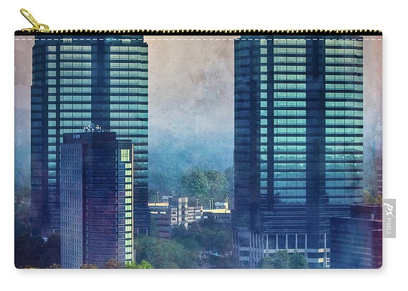 Atlanta Carry-all Pouch featuring the photograph King And Queen Buildings by Doug Sturgess