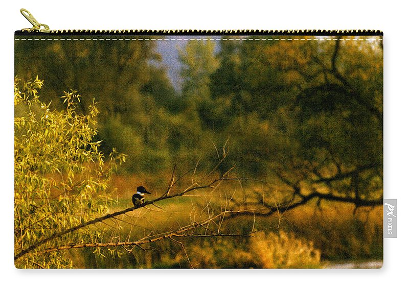 Landscape Carry-all Pouch featuring the photograph King Fisher by Steve Karol