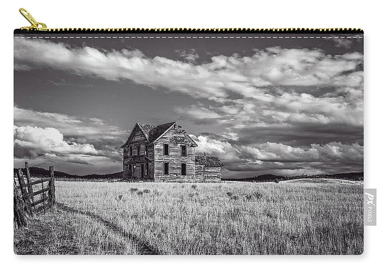 Central Oregon Carry-all Pouch featuring the photograph King Homestead_bw-1601 by Joe Hudspeth