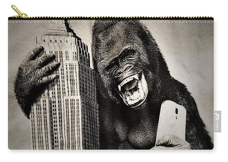 Architecture Carry-all Pouch featuring the photograph King Kong Selfie by Rob Hans