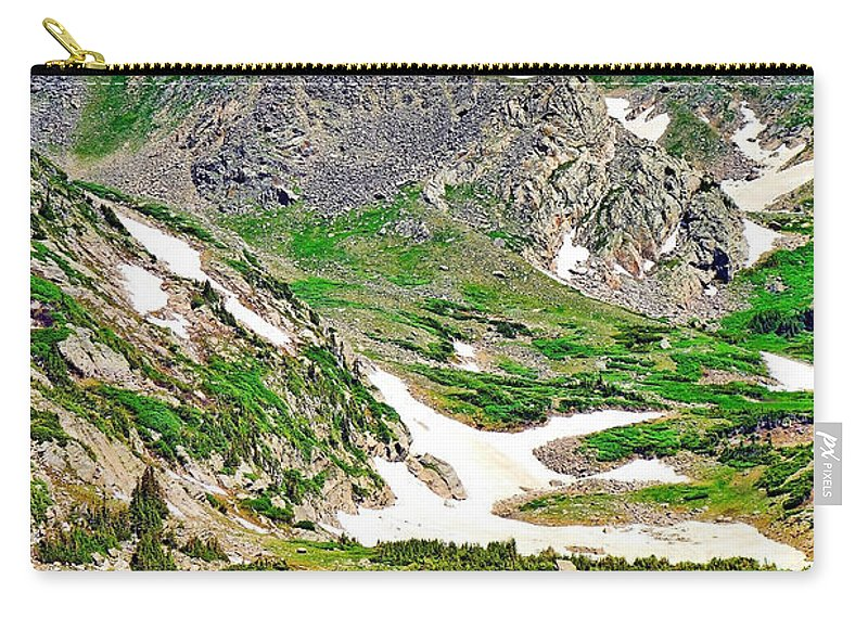 King Lake Carry-all Pouch featuring the photograph King Lake At Rollins Pass T by Robert Meyers-Lussier