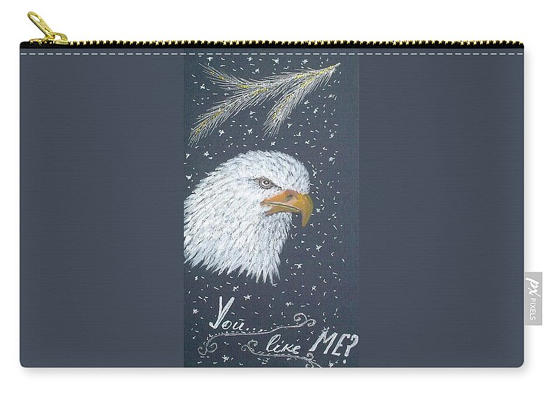 Eagle Painting Carry-all Pouch featuring the painting King Of Heights by Georgeta Blanaru