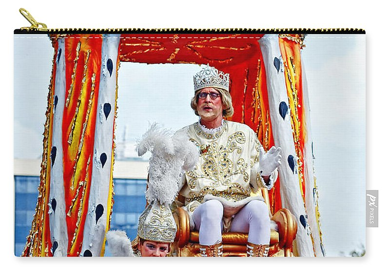Mardi Gras Carry-all Pouch featuring the photograph King Of Rex And Page - Mardi Gras New Orleans by Kathleen K Parker