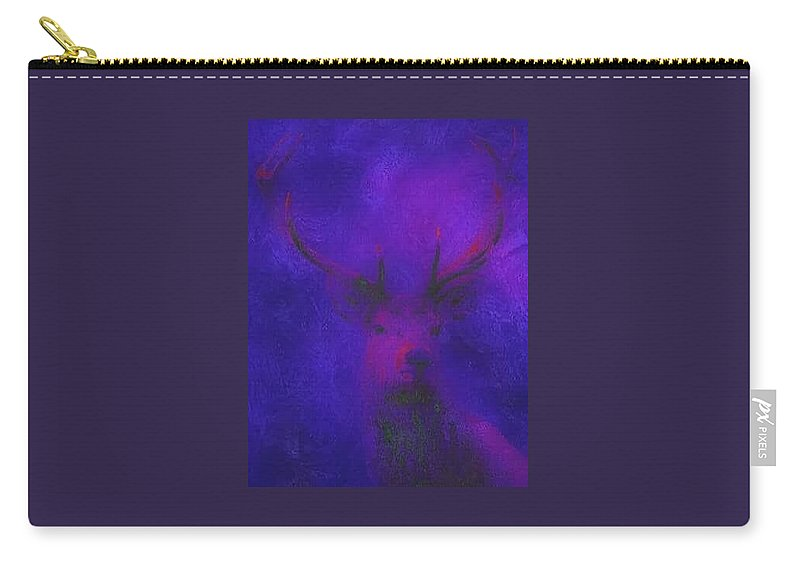 Landscape Carry-all Pouch featuring the digital art King Of The Forest by Tina-Marie Art addiction