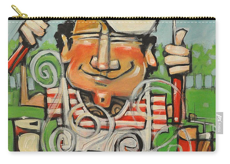 Guy Carry-all Pouch featuring the painting King Of The Grill by Tim Nyberg