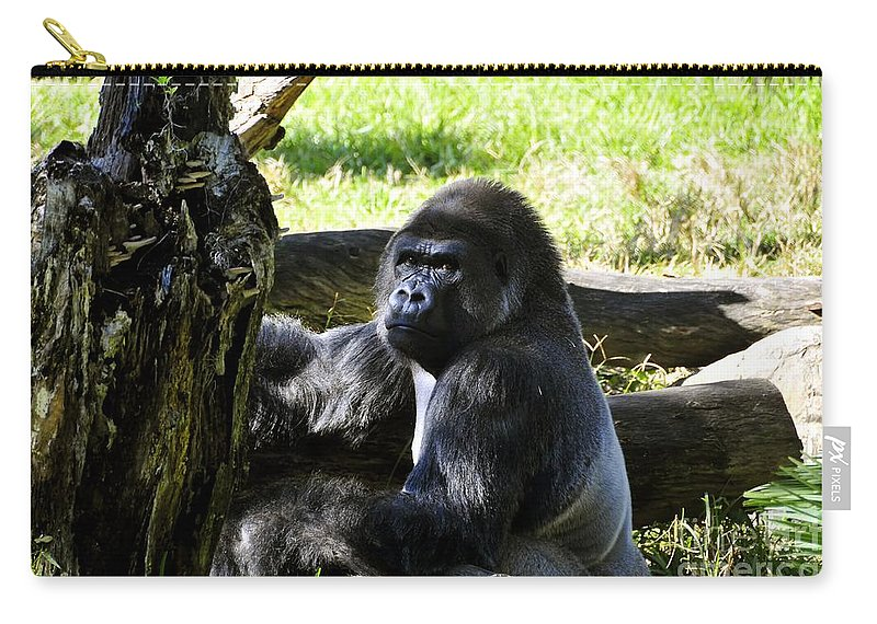 Gorilla Carry-all Pouch featuring the photograph King Of The Jungle by David Lee Thompson
