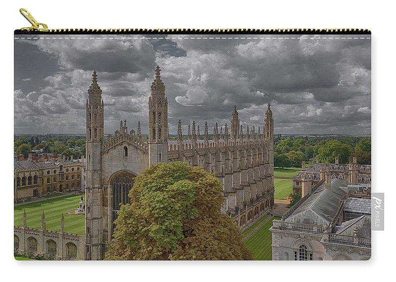 Cambridge Carry-all Pouch featuring the photograph Kings Chapel by Monika Tymanowska