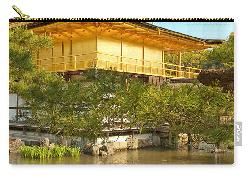 Japan Carry-all Pouch featuring the photograph Kinkakuji Golden Pavilion Kyoto by Sebastian Musial