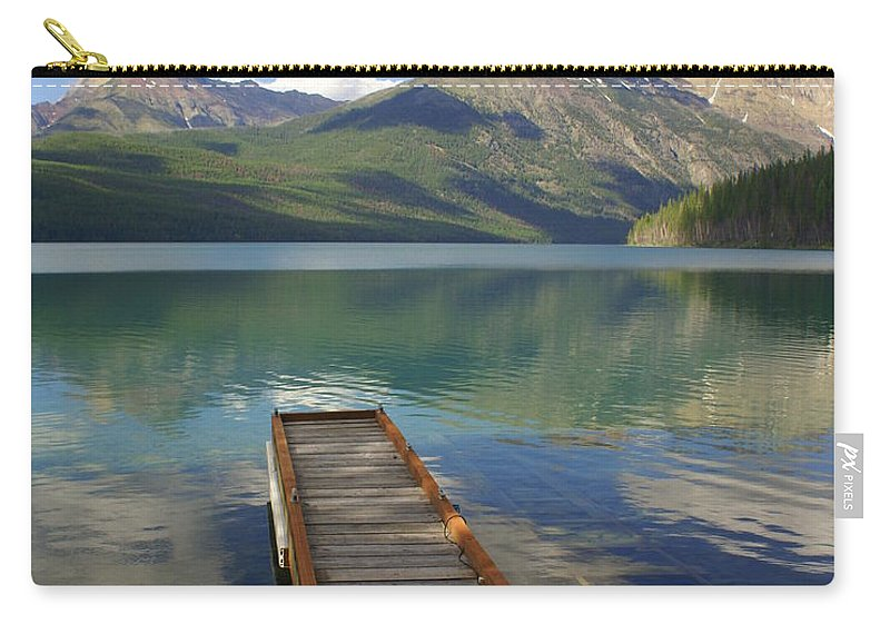 Glacier National Park Carry-all Pouch featuring the photograph Kintla Lake Dock by Marty Koch