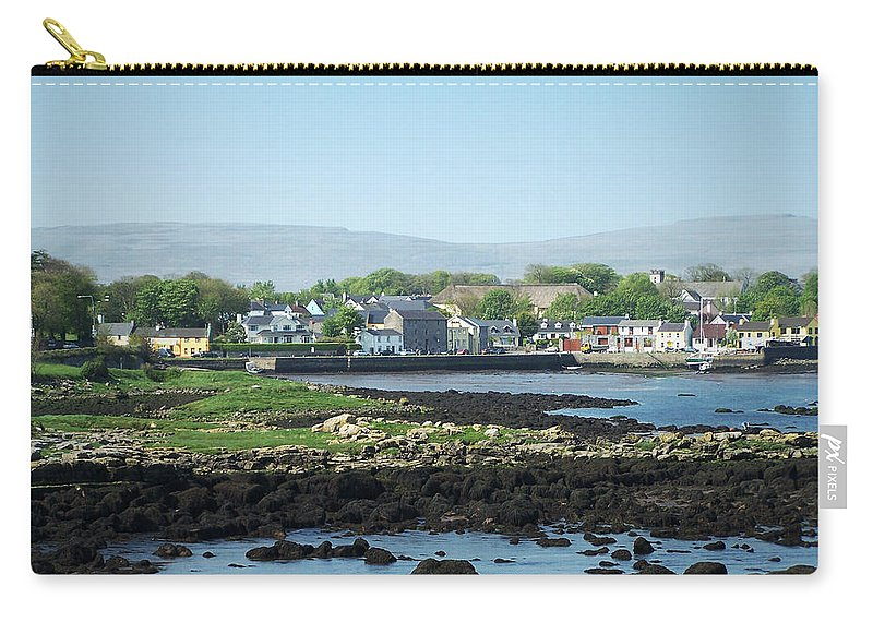 Irish Carry-all Pouch featuring the photograph Kinvara Seaside Village Galway Ireland by Teresa Mucha