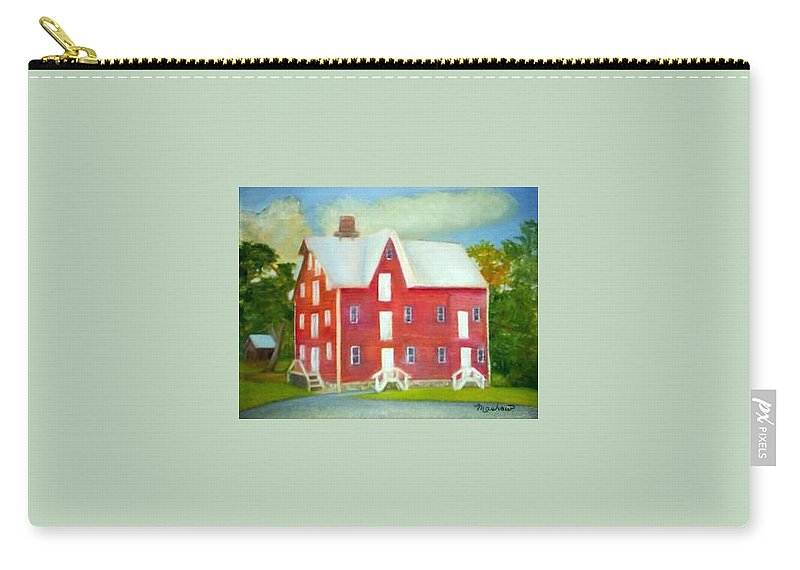 Kirby Mill Carry-all Pouch featuring the painting Kirby's Mil by Sheila Mashaw