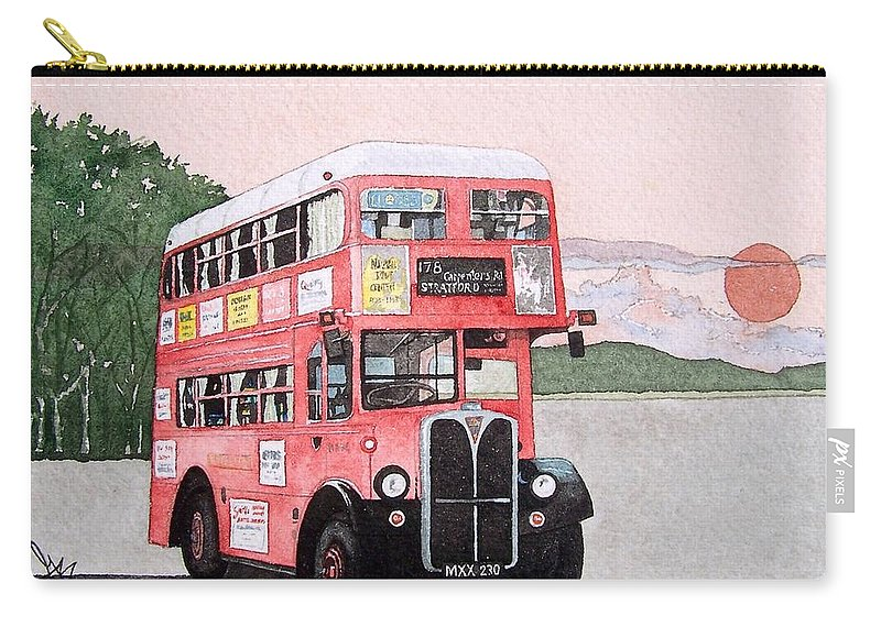 Bus Carry-all Pouch featuring the painting Kirkland Bus by Gale Cochran-Smith