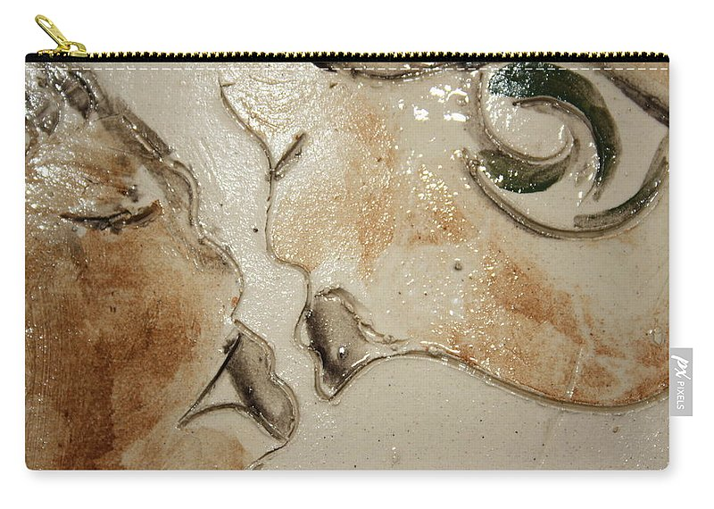 Gloria Ssali Carry-all Pouch featuring the ceramic art Kiss - Tile 1 by Gloria Ssali