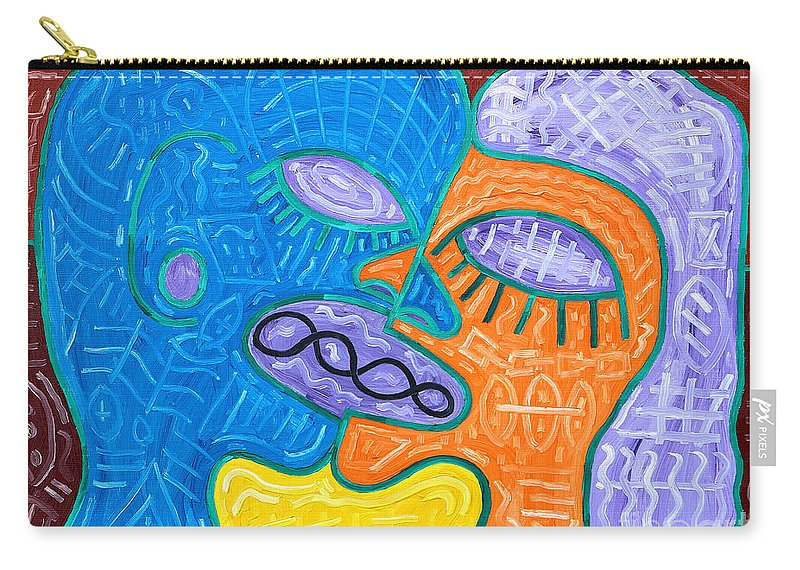 Kiss Carry-all Pouch featuring the painting Kiss by Patrick J Murphy