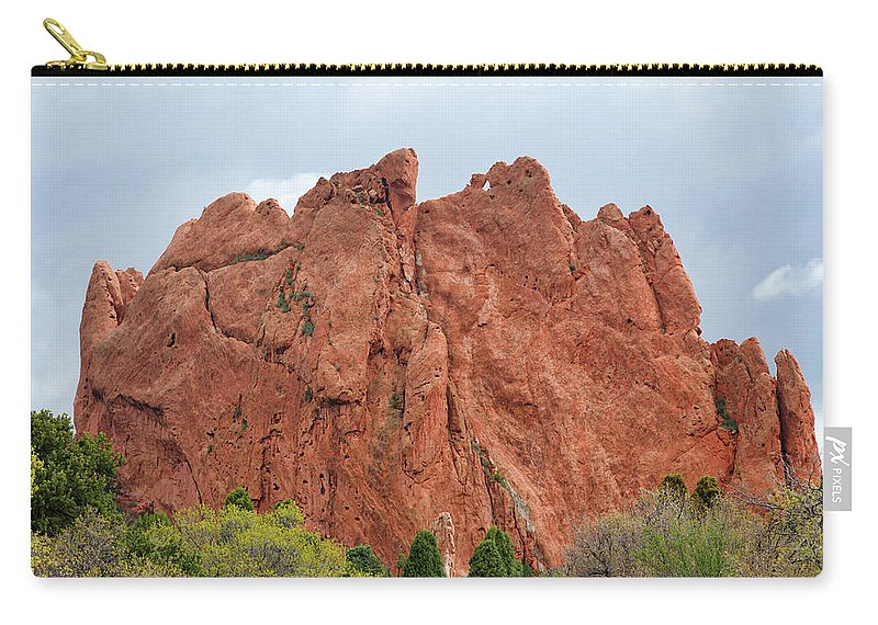 Kissing Camels Carry-all Pouch featuring the photograph Kissing Camels Rock Garden Of The Gods by Edward Moorhead