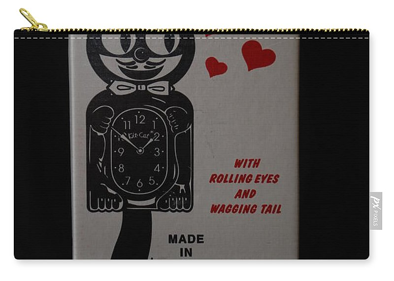 Face Carry-all Pouch featuring the photograph Kit Cat Klock by Rob Hans