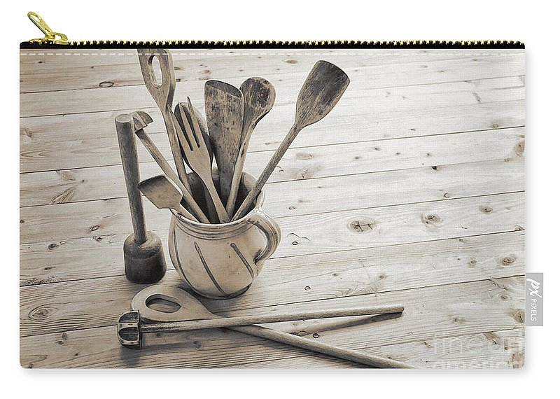 Photo Carry-all Pouch featuring the photograph Kitchen Utensils by Jutta Maria Pusl