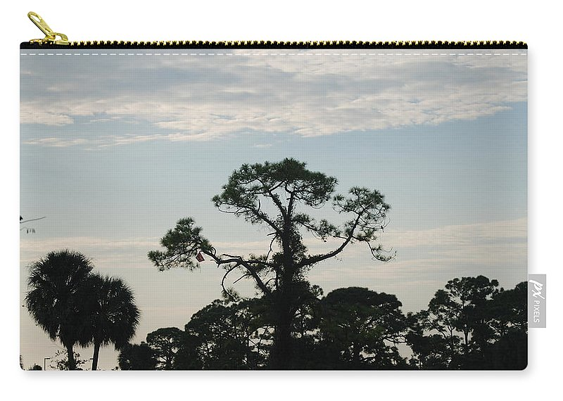 Kite Carry-all Pouch featuring the photograph Kite In The Tree by Rob Hans