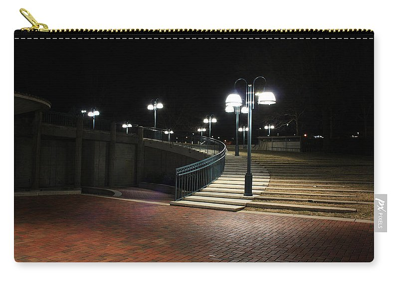 Kittamaqundi Carry-all Pouch featuring the photograph Kittamaqundi Nights - Fountain Stairway by Ronald Reid