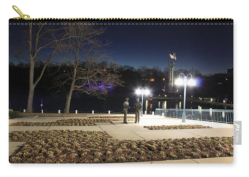 Kittamaqundi Carry-all Pouch featuring the photograph Kittamaqundi Nights - Rouse Brothers Strategize by Ronald Reid