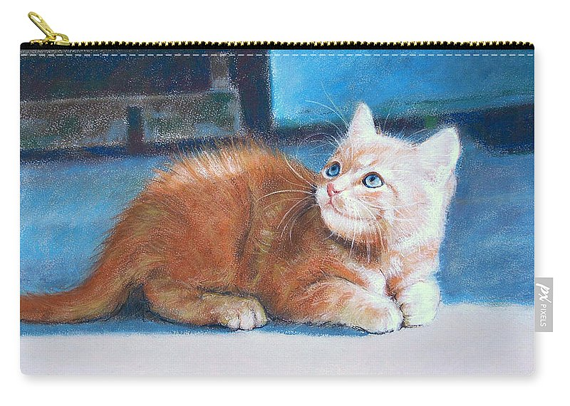 Cats Carry-all Pouch featuring the pastel Kitten by Iliyan Bozhanov