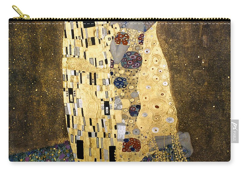 1907 Carry-all Pouch featuring the photograph Klimt: The Kiss, 1907-08 by Granger