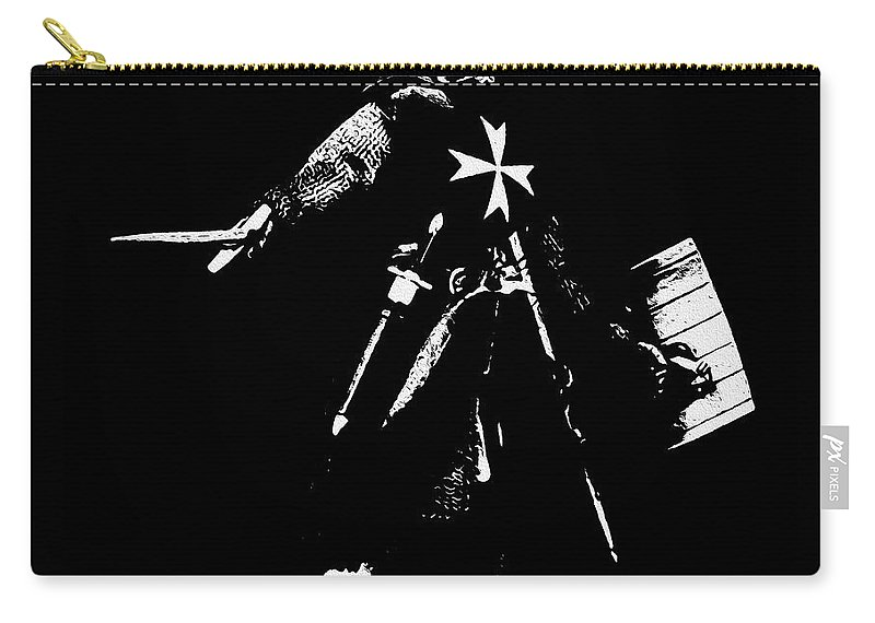 Knight Hospitaller Carry-all Pouch featuring the painting Knight Hospitaller - 02 by Andrea Mazzocchetti