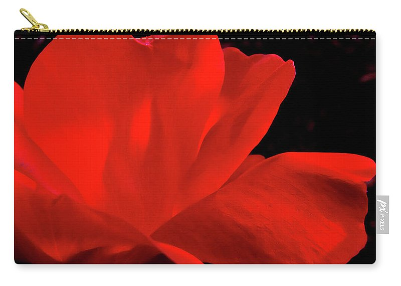 Rose Carry-all Pouch featuring the photograph Knockout by Peg Urban