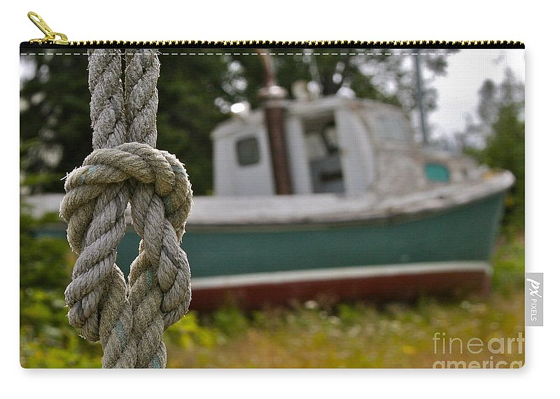 Boat Carry-all Pouch featuring the photograph Knot by Rick Monyahan