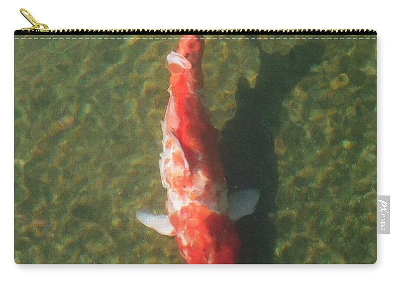 Koi Carry-all Pouch featuring the photograph Koi by Dean Triolo