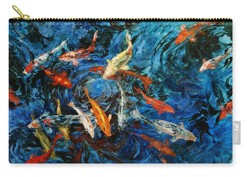Koi Carry-all Pouch featuring the painting Koi IIi by Rick Nederlof