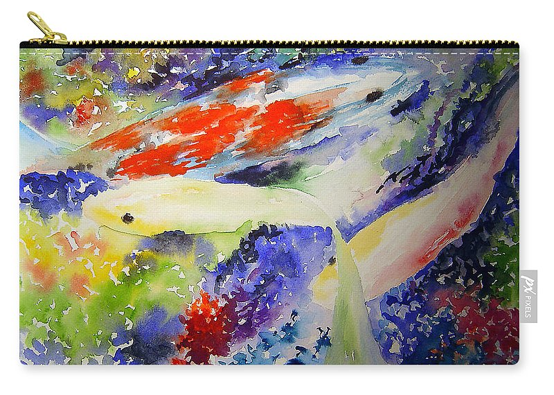 Koi Carry-all Pouch featuring the painting Koi by Joanne Smoley