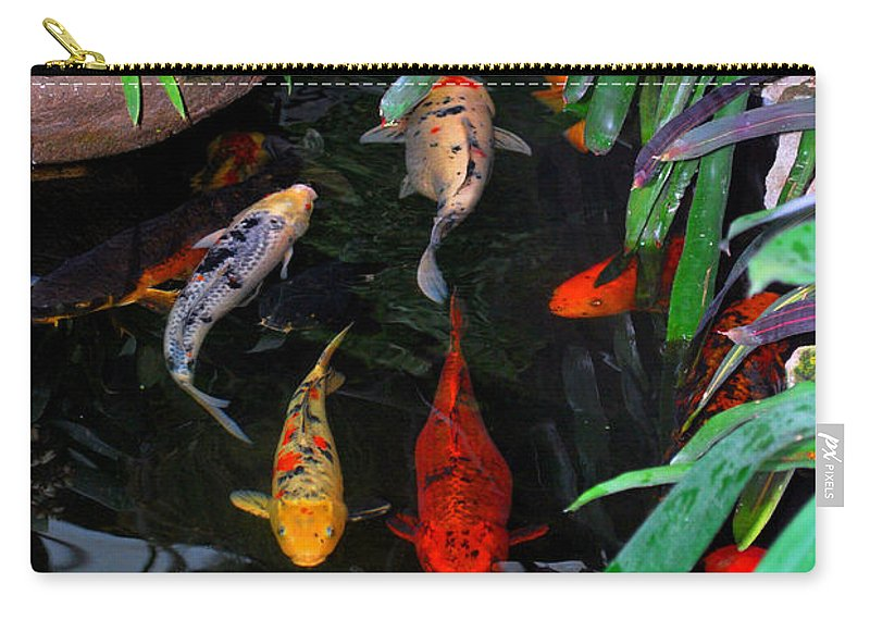 Koi Carry-all Pouch featuring the photograph Koi Pond by Nancy Mueller
