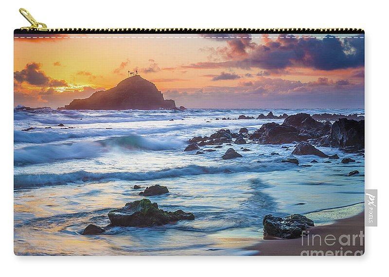 America Carry-all Pouch featuring the photograph Koki Beach Harmony by Inge Johnsson