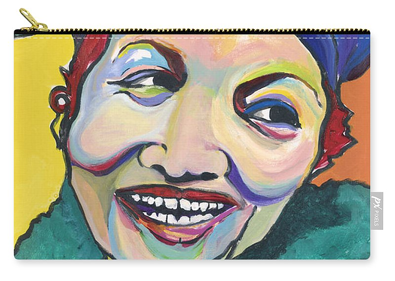 Hat Carry-all Pouch featuring the painting Koko Vivienne by Pat Saunders-White