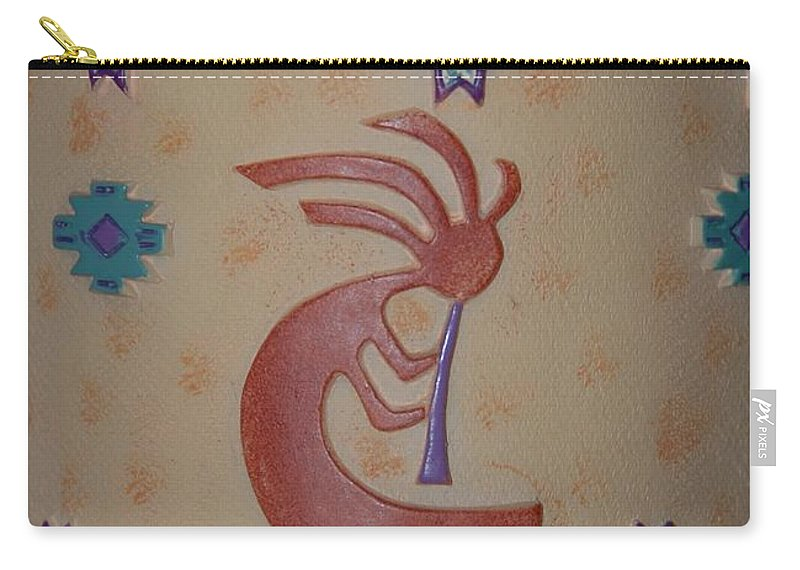 Kokopelli Carry-all Pouch featuring the photograph Kokopelli by Rob Hans