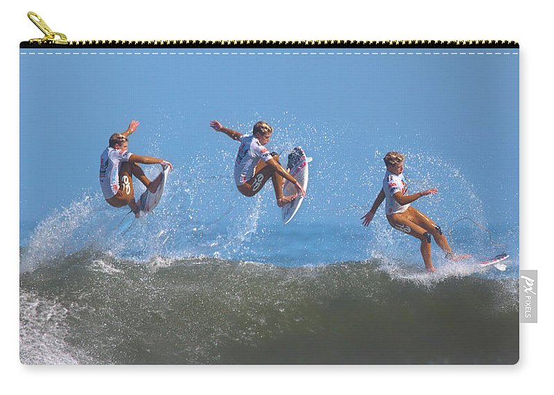 Surf Carry-all Pouch featuring the photograph Kolohe Andino Compilation by Brian Knott Photography