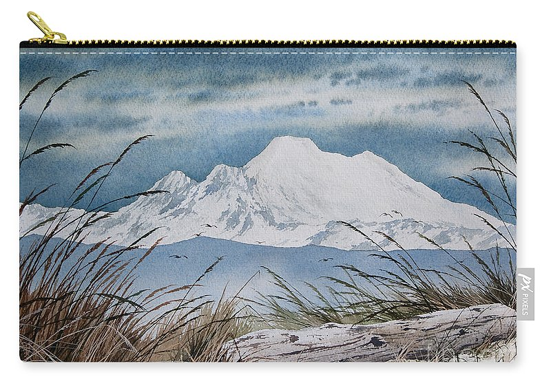 Landscape Fine Art Print Carry-all Pouch featuring the painting Koma Kulshan by James Williamson