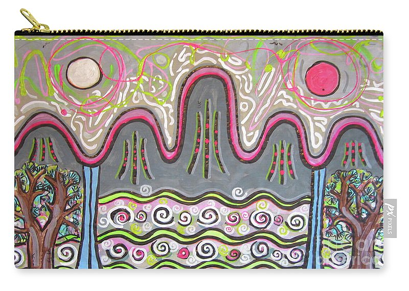 Ilwolobongdo Art Carry-all Pouch featuring the painting Korean Landscape Painting by Seon-jeong Kim
