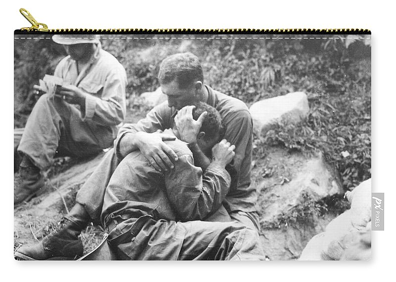 1950 Carry-all Pouch featuring the photograph Korean War, 1950 by Granger