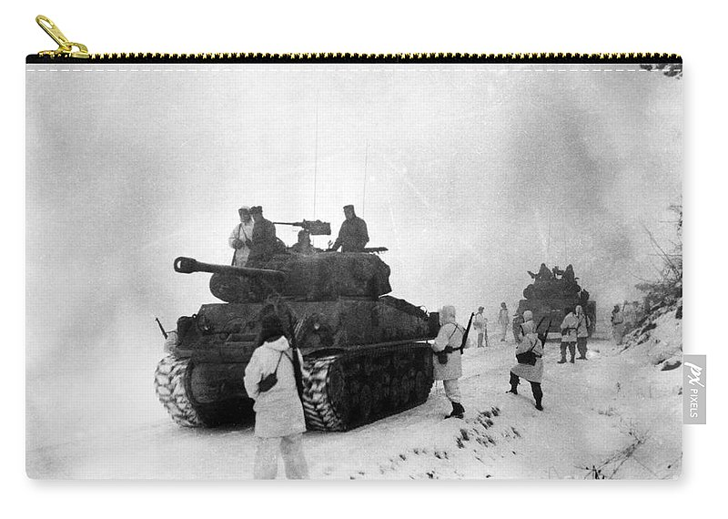1951 Carry-all Pouch featuring the photograph Korean War: Allied Forces by Granger